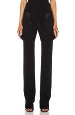 Satin Inlay Suspender Silk Trouser