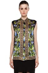 Sleeveless Printed Blouse