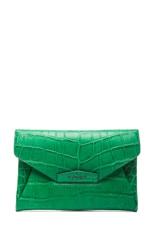 Medium Antigona Envelope Stamped Croc Clutch