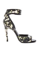 Baby's Breath Print Nenna Leather Heels