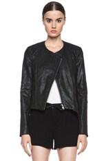 Patina Cropped Leather Jacket