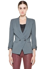 Silica Crepe Roll Up Sleeve Blazer