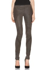 Patina Stretch Cheyenne Leather Armor Legging