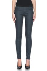 HELMUT Waxy Grey Wash Coated Jean Legging