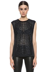 Fractal Technique Poly & Leather Tank