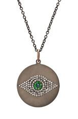 Evil Eye Tsavorites Necklace