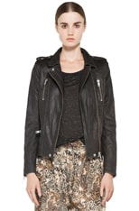 Anabela Leather Moto Jacket