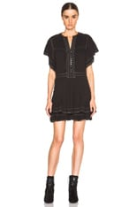 Ral Pleated Cotton Crepe Dress