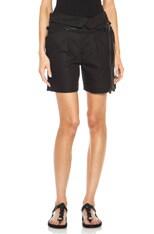 Devi Foldover Cotton-Blend Shorts