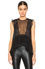 Vatelle Embroidered Organza Top