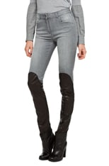 Leather Detail Pants