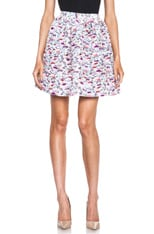Floral Poly Skirt