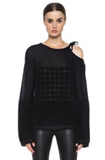 Mohai-Blend Knit Sweater