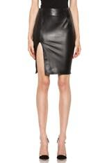 Leather Ponti Skirt