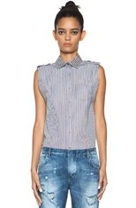 Stripe Shirt with Studs