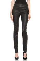 Stretch Lambskin High Waist Pant