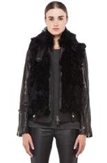 Leather Shearling Bear Jacket