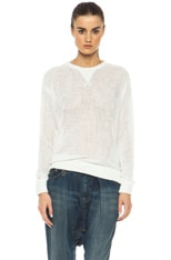 Mesh Cotton Sweatshirt