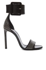 Jane Studded Calfskin Leather Ankle Strap Heels