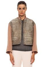Fifi Poly-Blend Croc Jacket