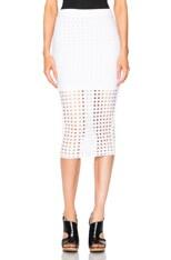Circular Hole Jacquard Skirt