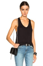 Classic Linen Silk Tank with Pocket