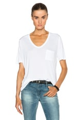 Classic Viscose Tee with Pocket