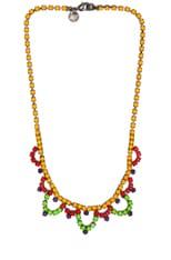 Dot Dash Rhodium & Brass Necklace