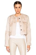 Nikki Long Sleeve Rabbit Fur Coat