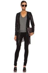 Christy Fringe Leather Jacket
