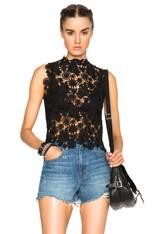 Sabrina Crochet Lace Sleeveless Top