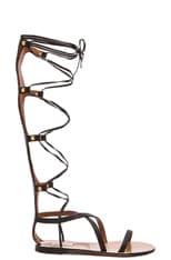 Rockstud Leather Gladiator Sandals