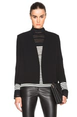 Pleated Blazer Cape