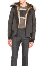 Cotton Jacket with Coyote Fur