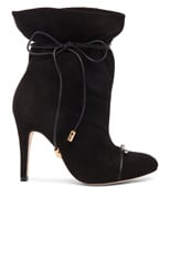 Suede Tie Up Ankle Booties