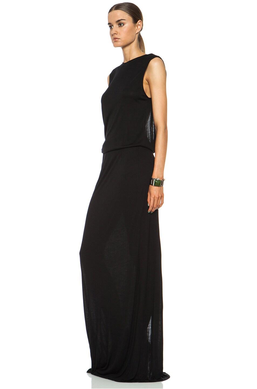 Image 2 of DEREK LAM 10 CROSBY Knot Back Viscose Dress in Black