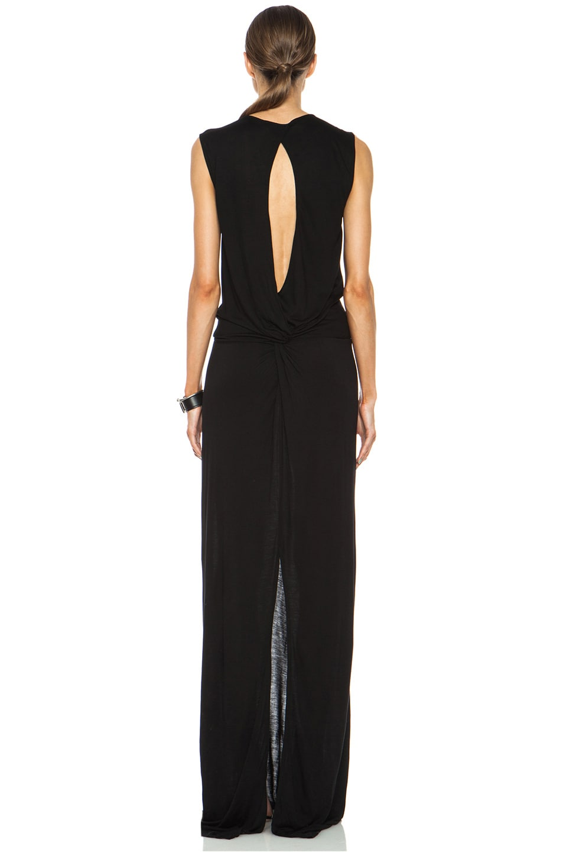 Image 4 of DEREK LAM 10 CROSBY Knot Back Viscose Dress in Black