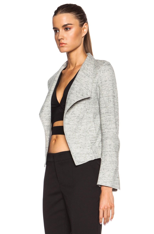 Image 2 of DEREK LAM 10 CROSBY Angled Lapel Cotton Jacket in Grey