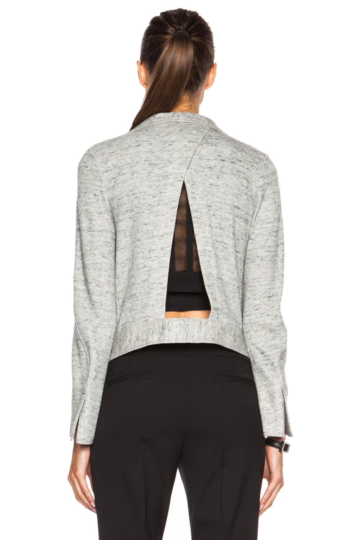 Image 4 of DEREK LAM 10 CROSBY Angled Lapel Cotton Jacket in Grey