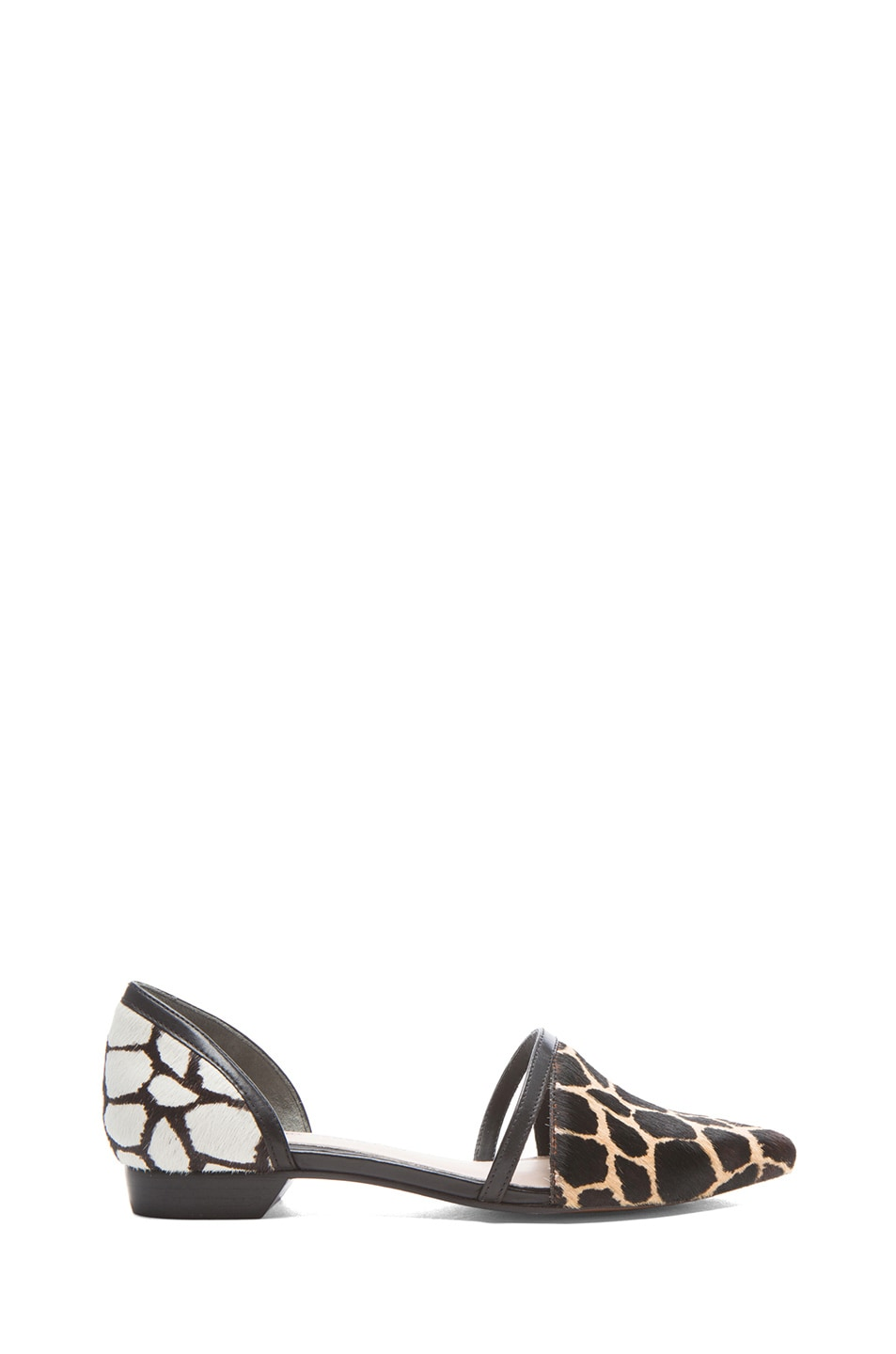 Image 1 of DEREK LAM 10 CROSBY Action Too Calf Hair Flats in Animal Print