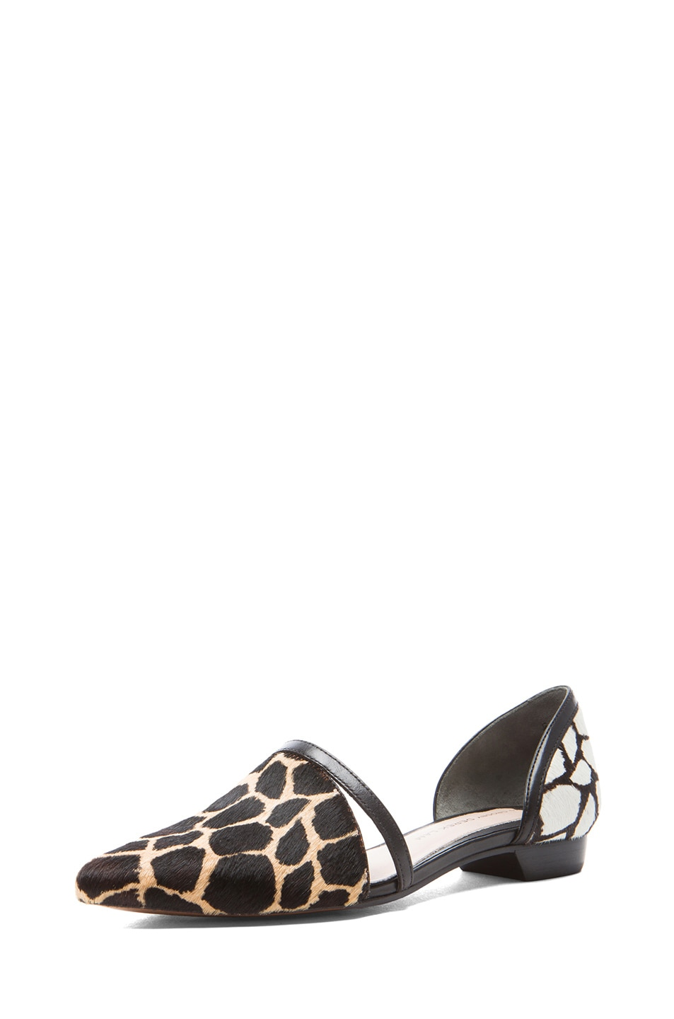 Image 2 of DEREK LAM 10 CROSBY Action Too Calf Hair Flats in Animal Print