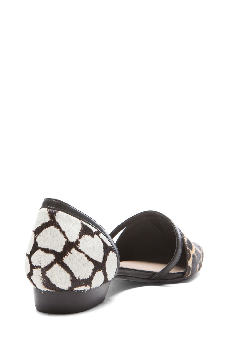 Image 3 of DEREK LAM 10 CROSBY Action Too Calf Hair Flats in Animal Print