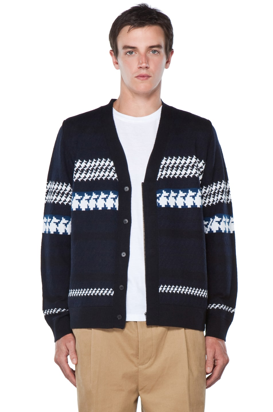 Image 2 of 3.1 phillip lim Jacquard Pattern Cardigan in Navy