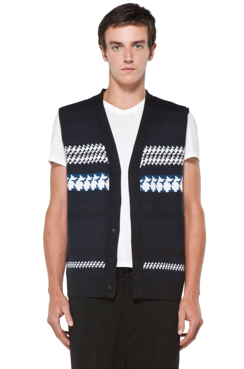 Image 3 of 3.1 phillip lim Jacquard Pattern Cardigan in Navy