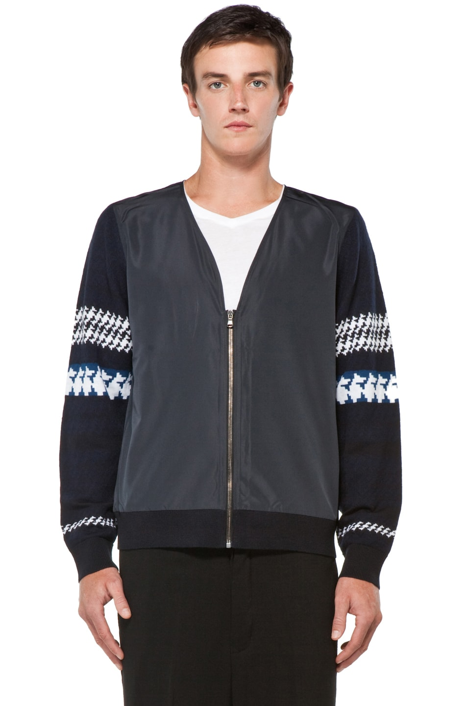 Image 4 of 3.1 phillip lim Jacquard Pattern Cardigan in Navy