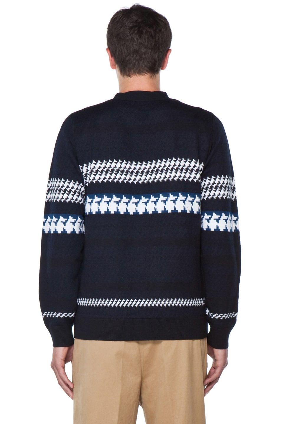 Image 7 of 3.1 phillip lim Jacquard Pattern Cardigan in Navy