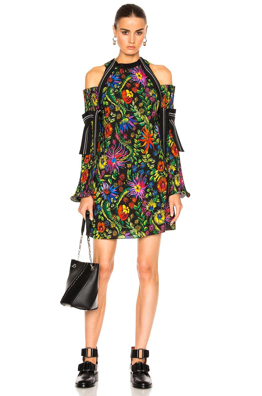 Image 1 of 3.1 phillip lim Long Sleeve Floral Cold Shoulder Dress in Black Multi