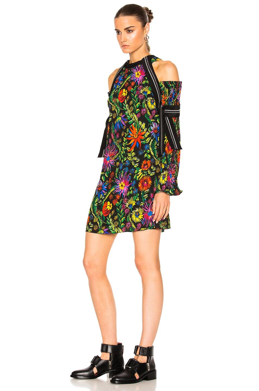 Image 2 of 3.1 phillip lim Long Sleeve Floral Cold Shoulder Dress in Black Multi