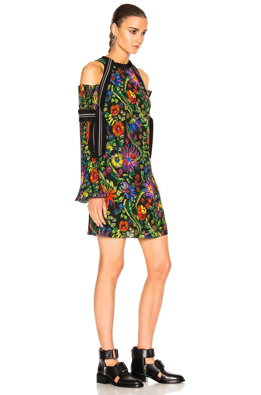 Image 3 of 3.1 phillip lim Long Sleeve Floral Cold Shoulder Dress in Black Multi