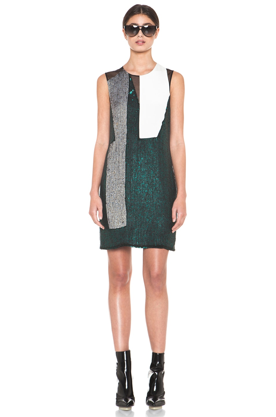 Image 1 of 3.1 phillip lim Collage Dress in Emerald